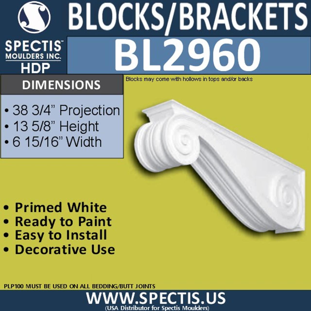 "BL2960 Eave Block or Bracket 13.5""W x 7""H x 38.75"" P"
