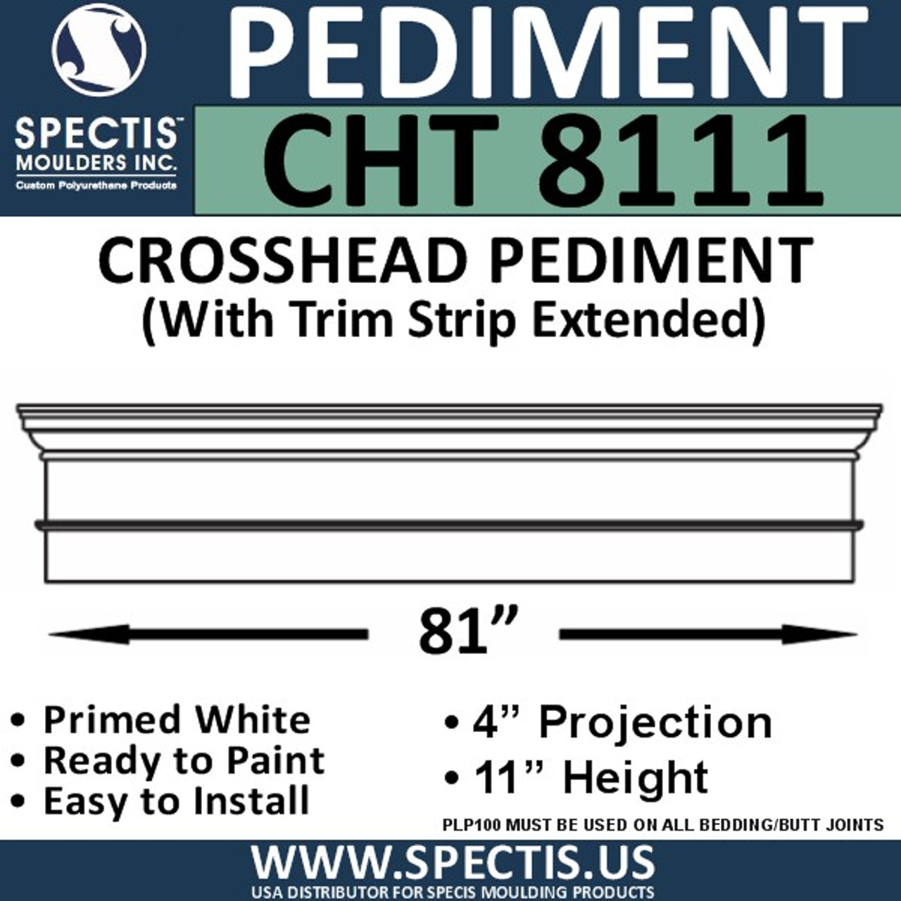 "CHT8111 Crosshead with Trim Strip Extended 81"" X 11"""