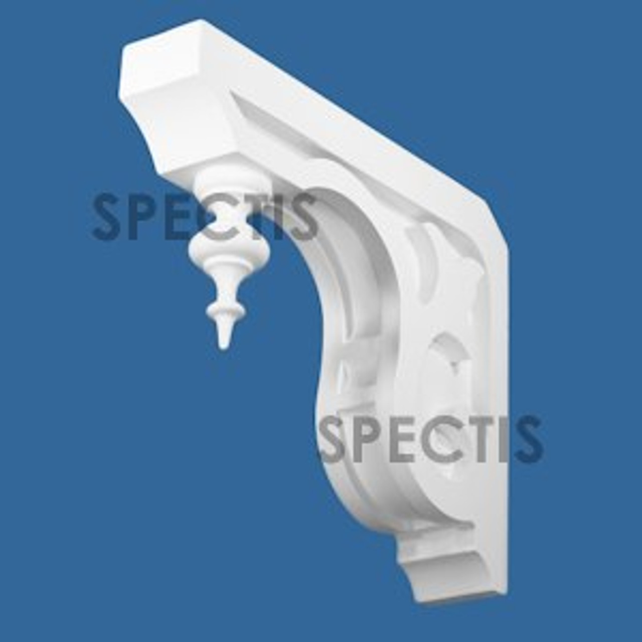 """BL2990 Spectis Eave Block or Bracket 3.19""""W x 14""""H x 17.13"""" Projection"""