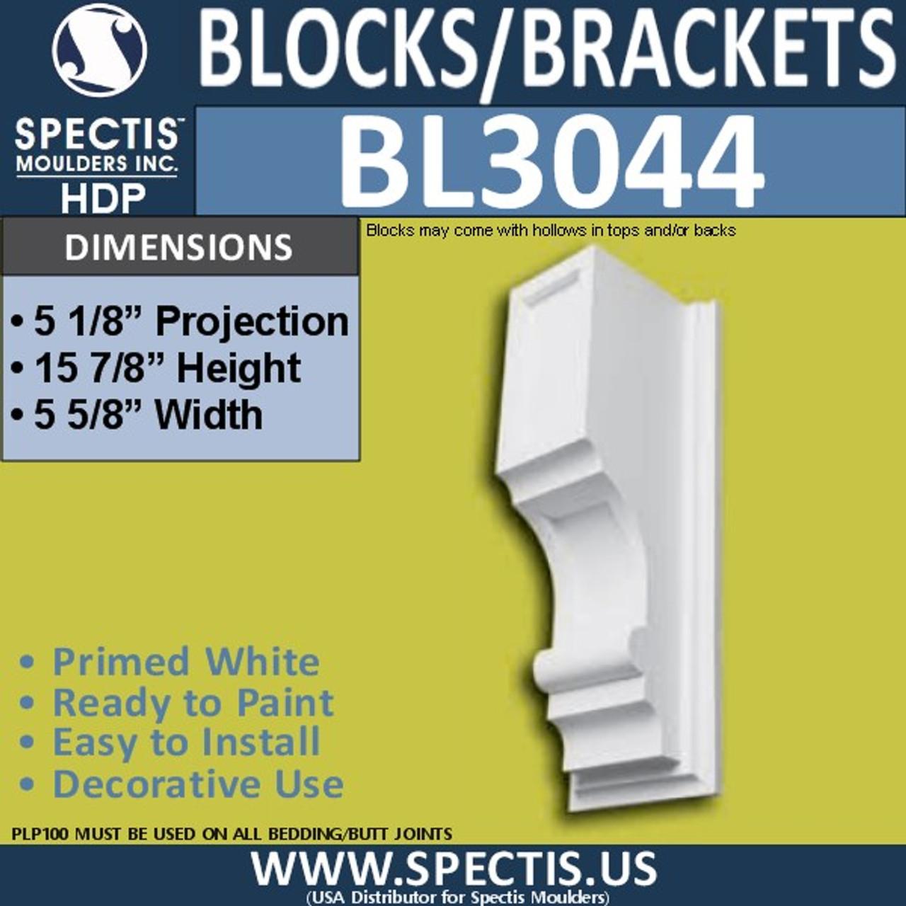 "BL3044 Eave Block or Bracket 5.63""W x 15.88""H x 5.13"" P"