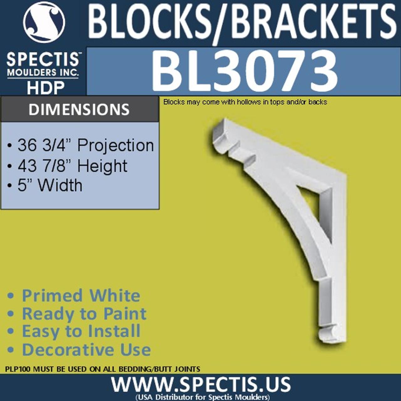 "BL3073 Eave Block or Bracket 5""W x 44""H x 36.75"" P"