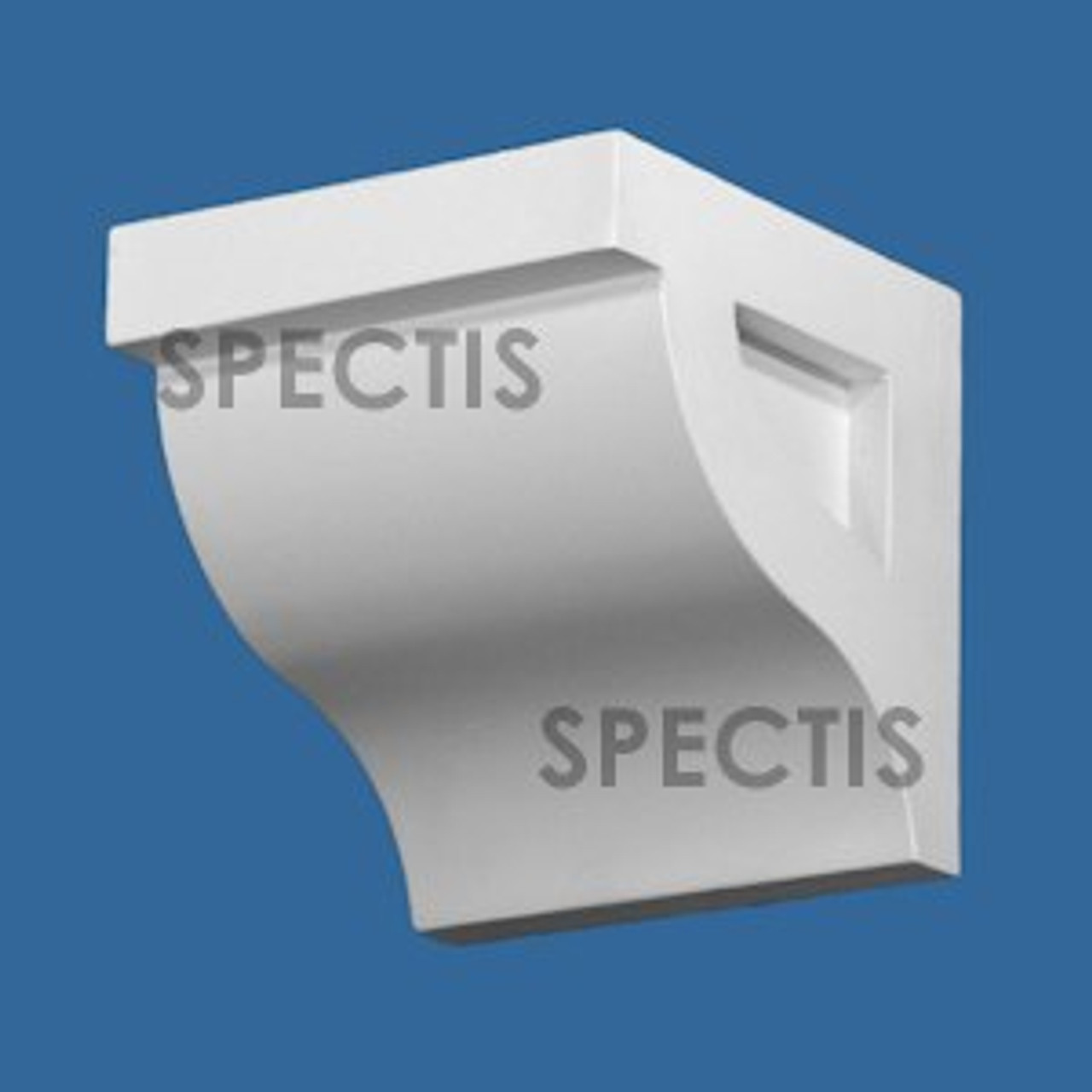 """BL3077 Spectis Eave Block or Bracket 12""""W x 5.88""""H x 5.88"""" Projection"""