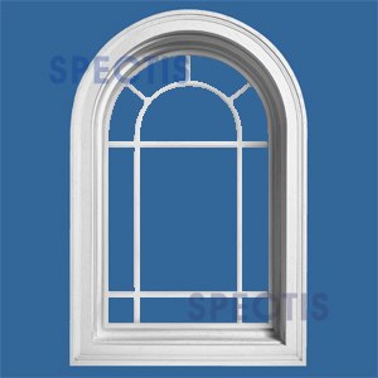ARCH2031QG Arch Top Queen Ann Decorative Arch Window