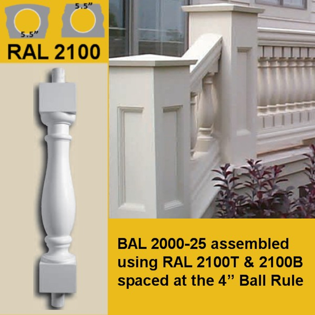 BAL2000-25 and RAL2100 Handrail