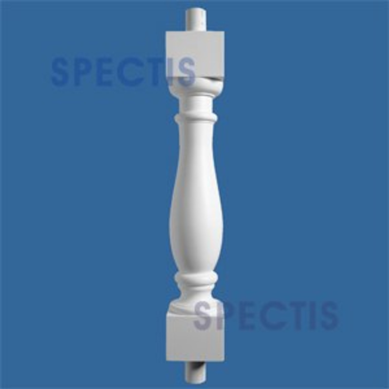 """BAL2000-25ext33 Urethane Baluster or Spindle 4 1/2""""W X 33""""H"""