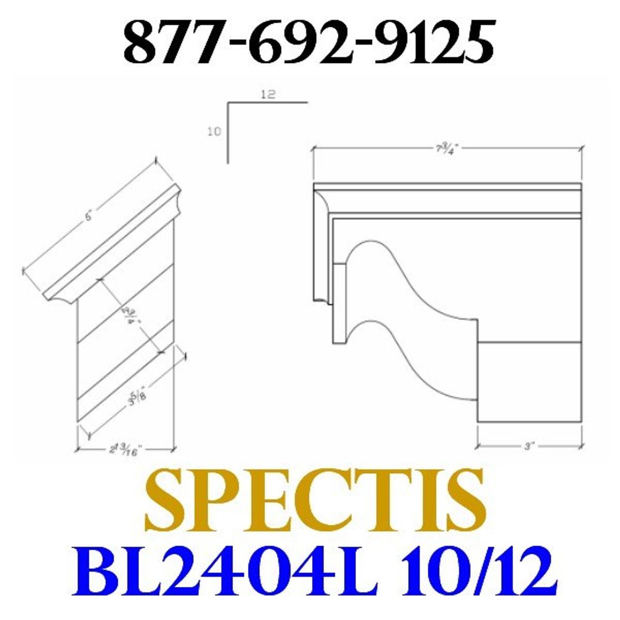 """BL2404L-10/12 Pitch Corbel or Eave Bracket 5""""W x 3.5""""H x 7.75"""" P"""