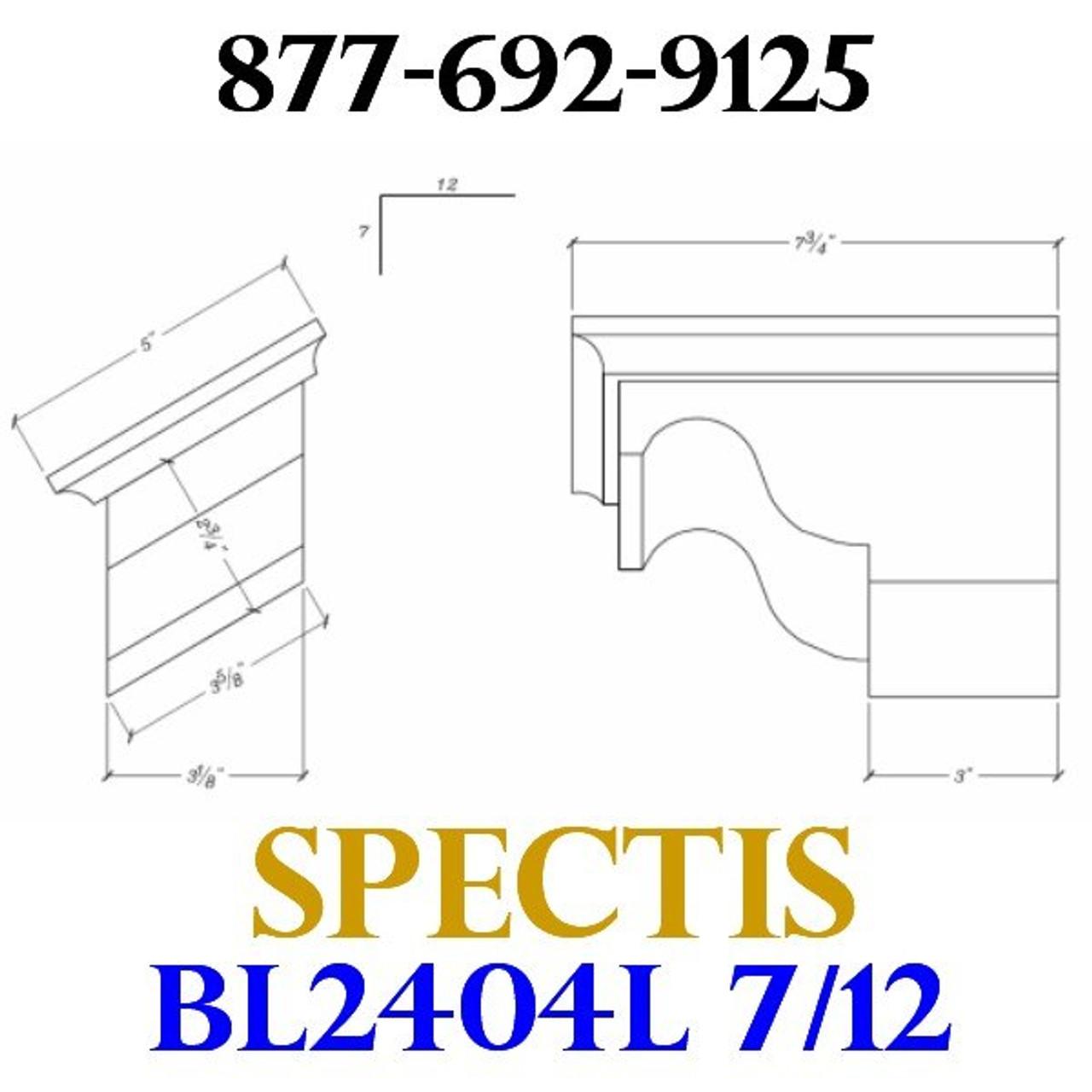 """BL2404L-7/12 Pitch Corbel or Eave Bracket 5""""W x 3.5""""H x 7.75"""" P"""