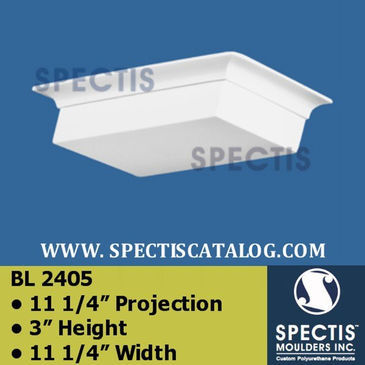 "BL2405 Square Eave Block P-11.25"" H-11.25"" W 11.25"""