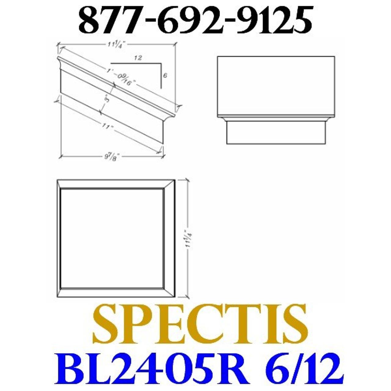 "BL2405R-6/12 Pitch Corbel or Eave Bracket 11.25""W x 3""H x 11.25"" P"