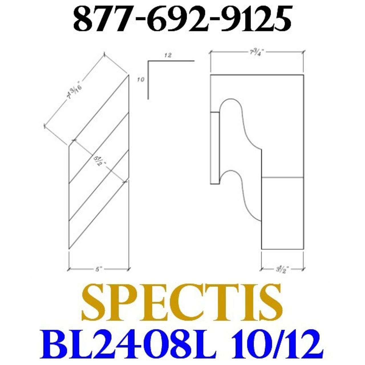 """BL2408L-10/12 Pitch Corbel or Eave Bracket 5""""W x 7""""H x 7.75"""" P"""