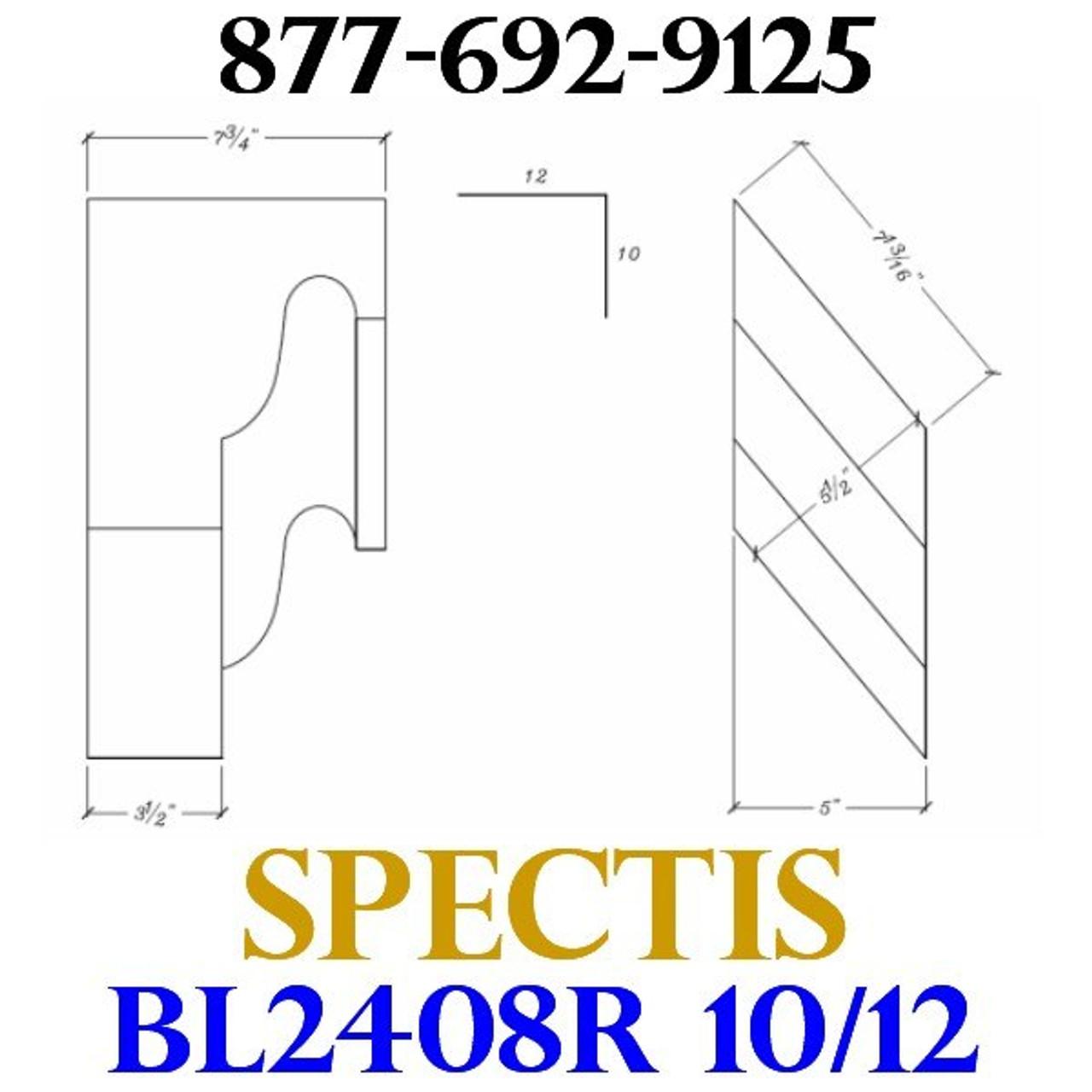 "BL2408R-10/12 Pitch Corbel or Eave Bracket 5""W x 7""H x 7.75"" P"