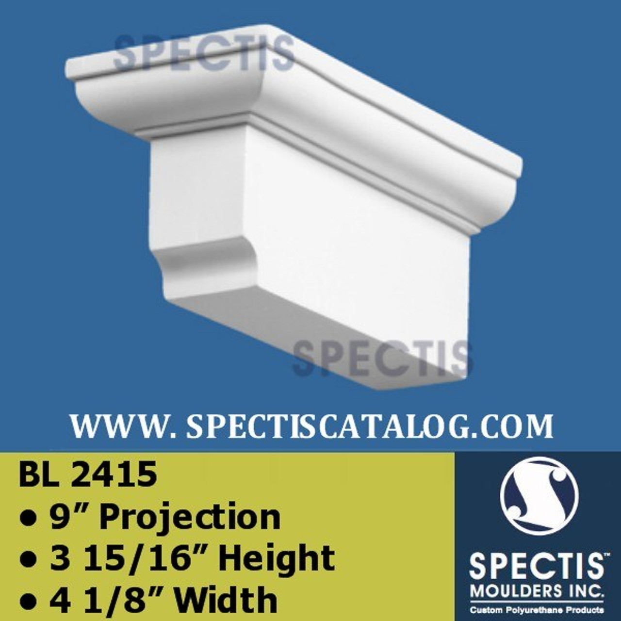 """BL2415 Block or Corbel  9"""" Projection 3 15/16 Height 4 1/8"""" Width"""