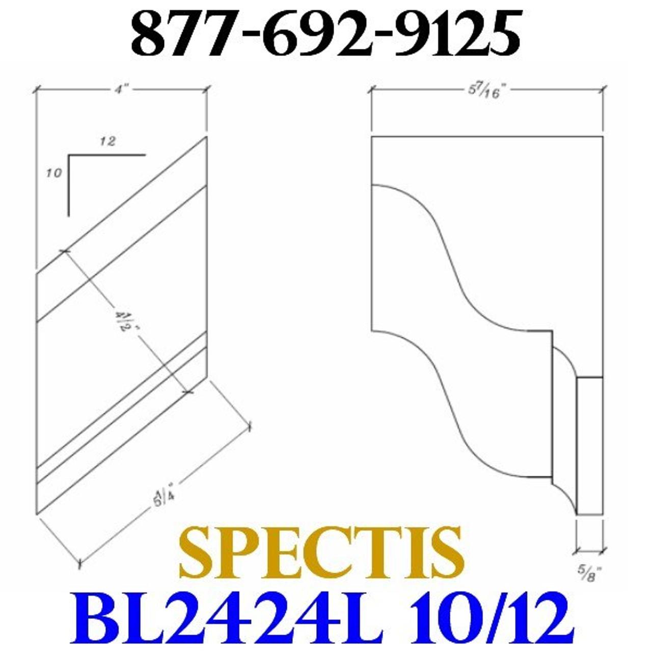 """BL2424L-10/12 Pitch Corbel Block or Bracket 4""""W x 6""""H x 6"""" P"""