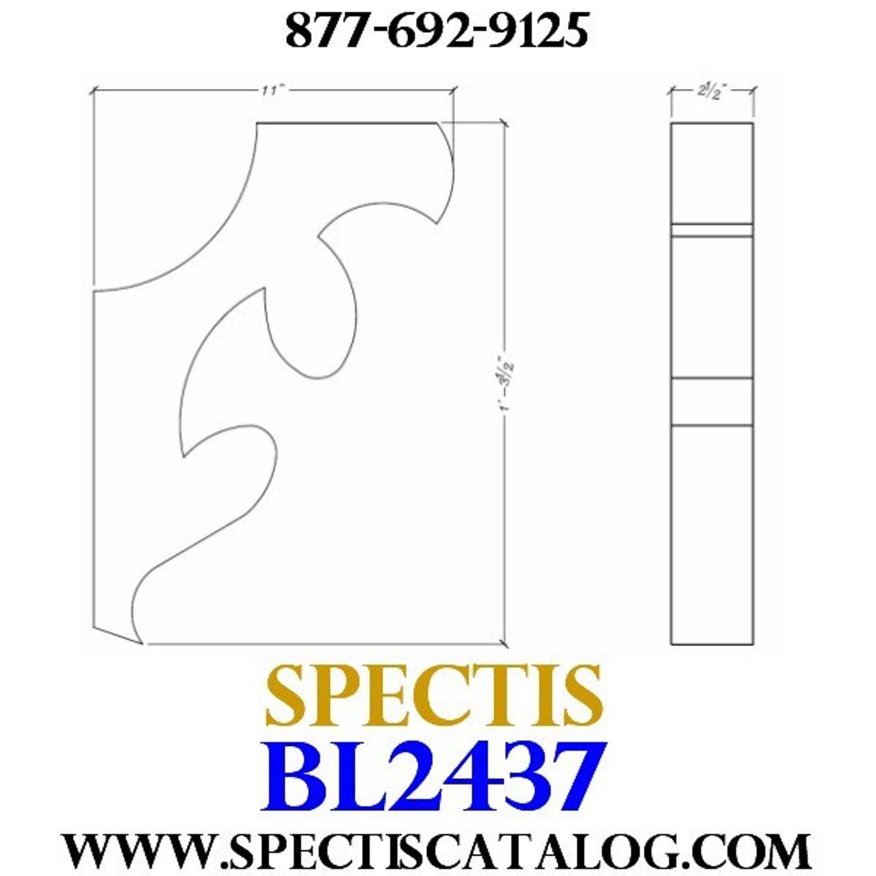 "BL2437 Corbel Block or Eave Bracket 2.5""W x 15.5""H x 11"" P"