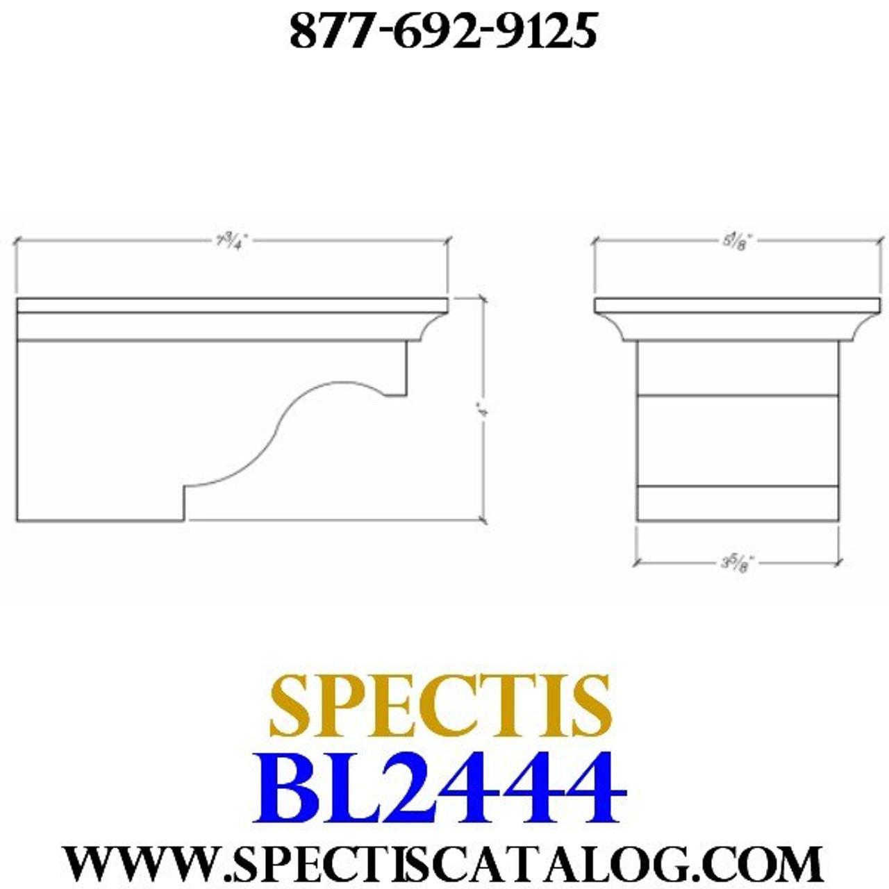 "BL2444 Corbel Block or Eave Bracket 5""W x 4""H x 8"" P"