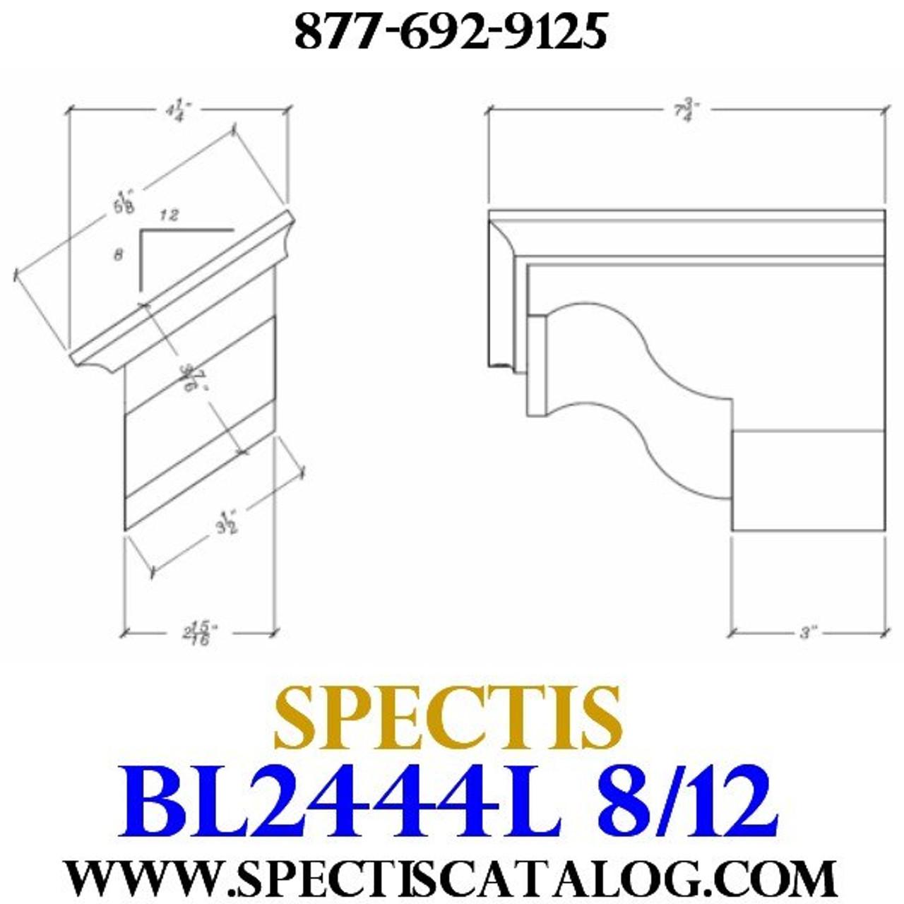 """BL2444L-8/12 Pitch Corbel Block or Bracket 5""""W x 4""""H x 8"""" P"""