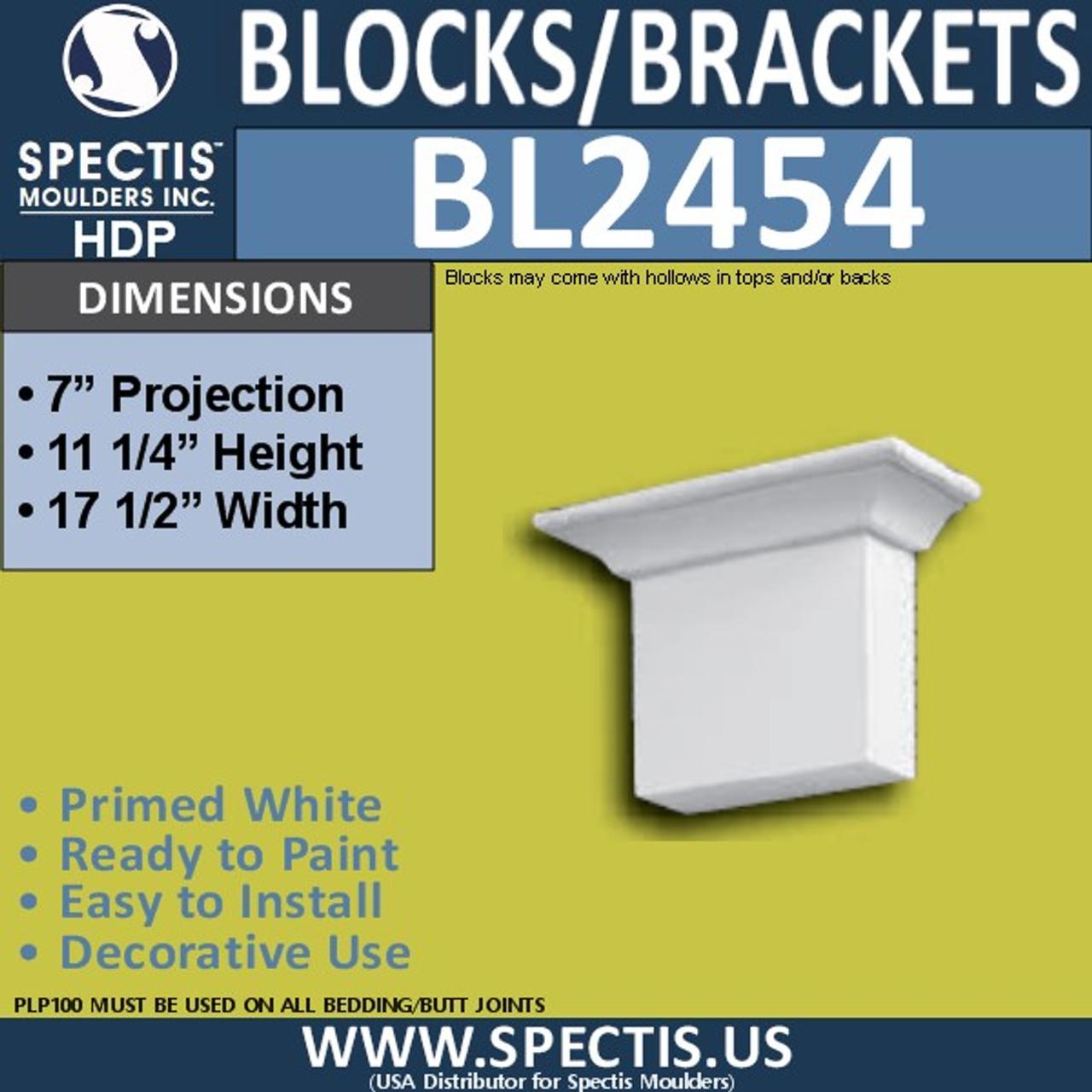 "BL2454 Eave Block or Bracket 17.5""W x 11.25""H x 7"" P"