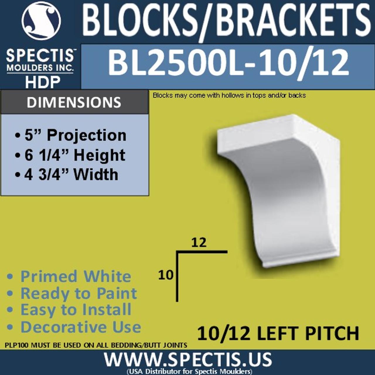 """BL2500L-10/12 Pitch Eave Bracket 4.75""""W x 6.25""""H x 5"""" P"""