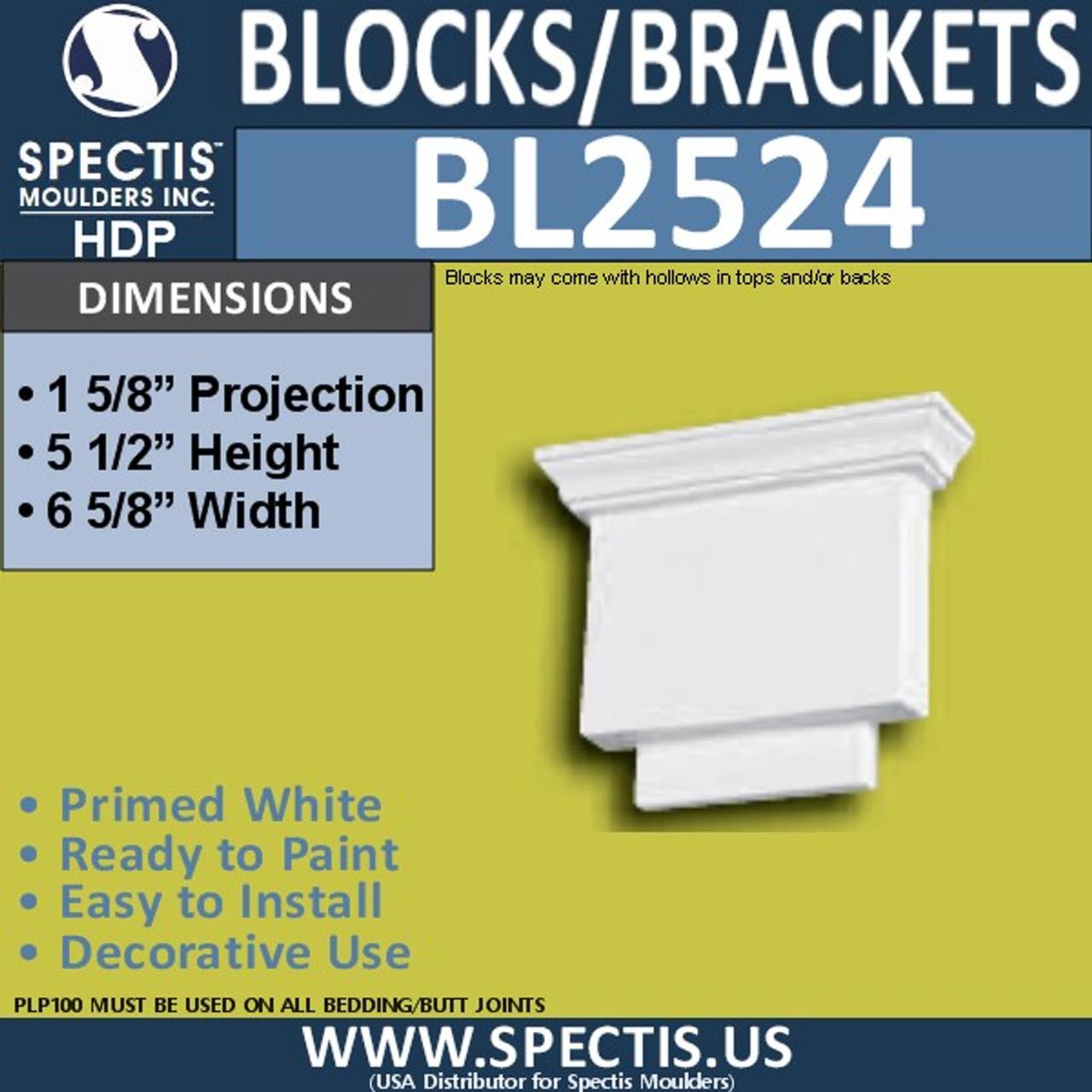 "BL2524 Eave Block or Bracket 6.5""W x 5.5""H x 2"" P"