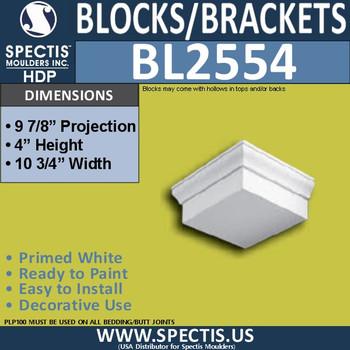 "BL2554 Eave Block or Bracket 10.75""W x 4""H x 10"" P"