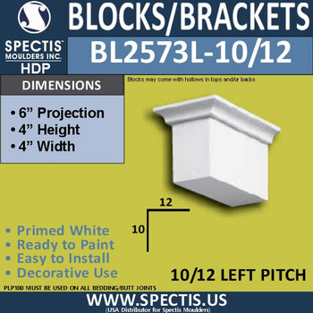 "BL2573L-10/12 Pitch Eave Bracket 3.5""W x 4""H x 6"" P"