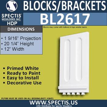 "BL2617 Eave Block or Bracket 11.925""W x 20.25""H x 0.92"" P"