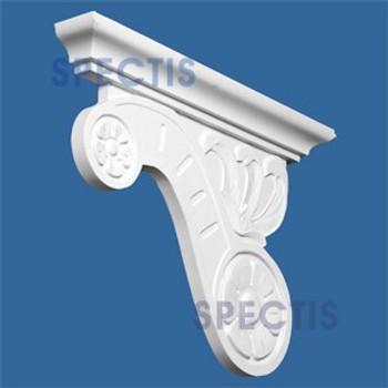 "BL2635R Corbel Block or Eave Bracket 3.25""W x 17.75""H x 24.75"" P"
