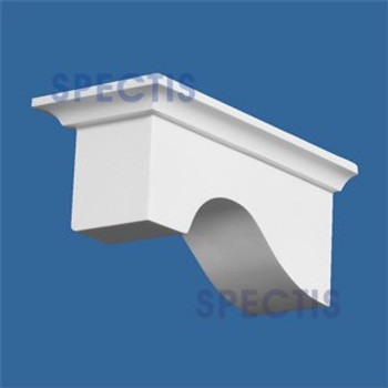 "BL2641R-6/12 Pitch Corbel or Eave Bracket 2.5""W x 2.5""H x 5.5"" P"