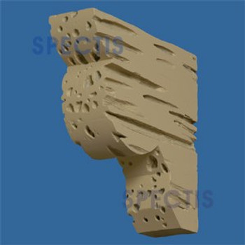 "BL2642PC Corbel Block or Eave Bracket 2.5""W x 2.5""H x 8.9"" P"