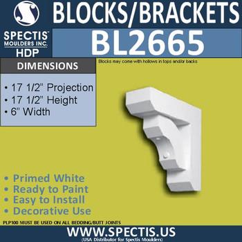 "BL2665 Eave Block or Bracket 6""W x 17.5""H x 17.5"" P"