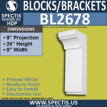 "BL2677 Eave Block or Bracket 3.5""W x 3.18""H x 5.75"" P"