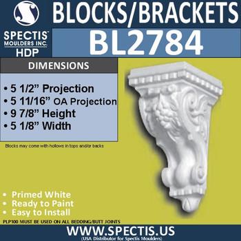 "BL2784 Eave Block or Bracket 5.1""W x 10""H x 5.5"" P"