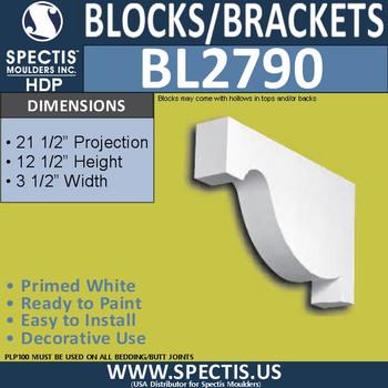 "BL2790 Eave Block or Bracket 3.5""W x 12.5""H x 21.5"" P"