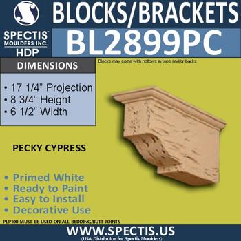 """BL2899PC Pecky Cypress Bracket 6.5""""W x 8.5""""H x 17.25"""" P"""