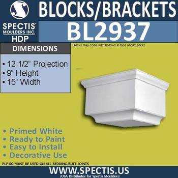 "BL2937 Eave Block or Bracket 15""W x 9""H x 12.5"" P"