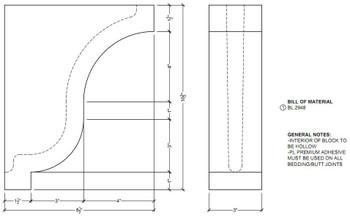 "BL2948 Corbel Block or Eave Bracket 3""W x 8.5""H x 8.5"" P"