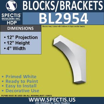 "BL2954 Eave Block or Bracket 4""W x 12""H x 12"" P"