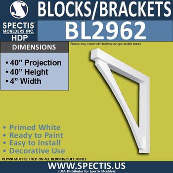 "BL2962 Eave Block or Bracket 4""W x 40""H x 40"" P"