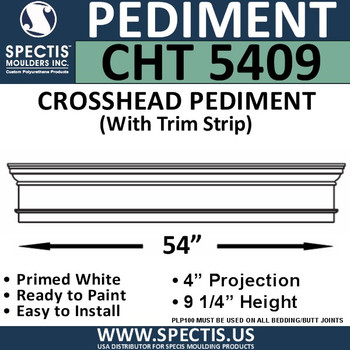 "CHT5409 Crosshead with Trim Strip 54"" W x 9 1/4"" H"