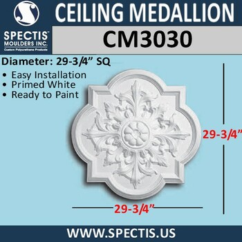 "CM3030 Decorative Ceiling Medallion 29.75"" Wide"