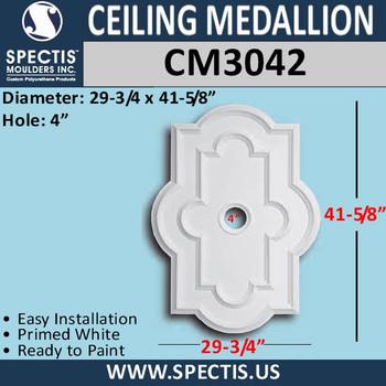 "CM3042 Rectangle Ceiling Medallion 4"" Hole x 29 3/4"" x 41 5/8"""