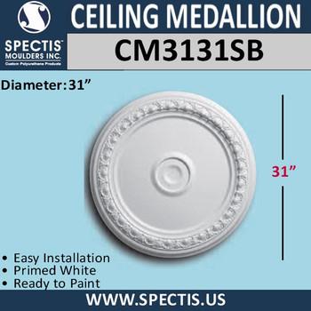 "CM3131SB Decorative Urethane Ceiling Medallion 31"" Round"