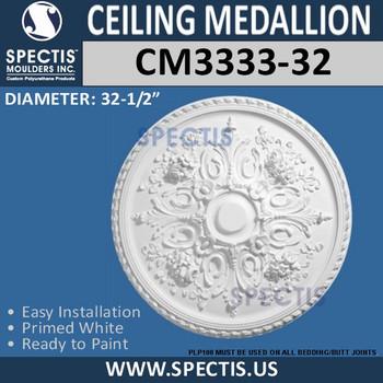 "CM3333-32 Decorative Ceiling Medallion 32.5"" Round"