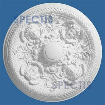 "CM3434 32-3/8"" Round Decorative Cherub Face Ceiling Medallion"