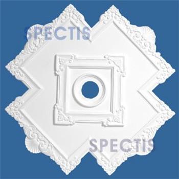 "CM4040 40.5"" Cross Pattern Decorative Ceiling Medallion 4"" Hole"