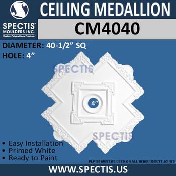 "CM4040 Cross Pattern Decorative Ceiling Medallion 40.5"""