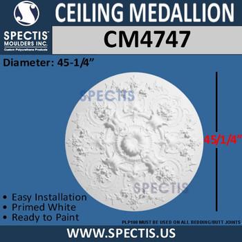 "CM4747 Decorative Round Ceiling Medallion 45 1/4"""