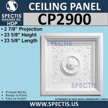 "CP2900 Decorative Ceiling Panel 23 5/8"" Square"