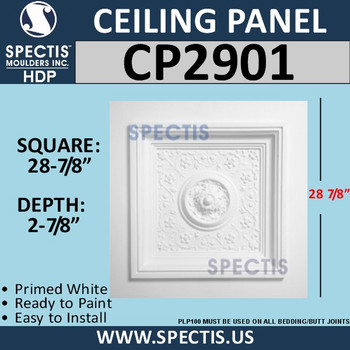 "CP2901 Decorative Ceiling Panel 28 7/8"" Square"