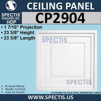 """CP2904 Drop-In Premium Decorative Ceiling Panel 23-5/8"""""""